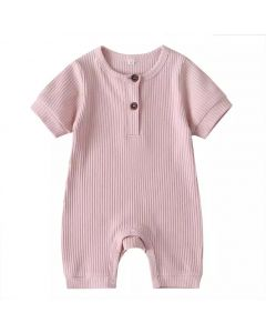 "PACK 5 4 Pink ""Arman"" Baby Ribbed Cotton Playsuit. SIZES: 0-3M,3-6M,6-9M,9-12M,12-18M"