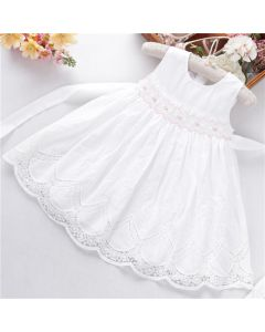 "Aurora Royal ""White Star"" Hand-Smocked Dress"