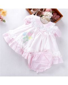 "Aurora Royal Exclusive ""Tulips"" Lace Puffball Dress Set"