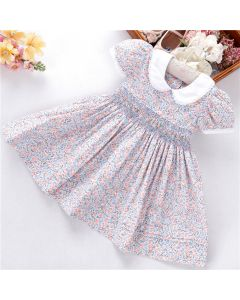 "Aurora Royal "" Beatrice"" Traditional Hand-smocked Dress"