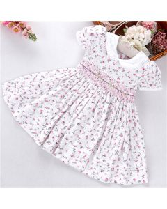 "Aurora Royal ""Loretta"" Traditional Hand-smocked Dress"