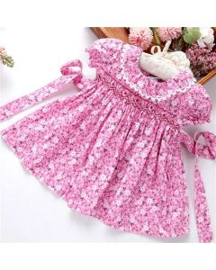 "Aurora Royal ""Claire"" Traditional Handsmocked Dress"