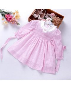 "Aurora Royal ""Eleonore"" Pink Hand Smocked Dress"