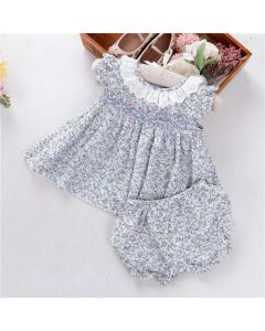 "Aurora Royal Baby Girls ""Caroll"" Hand Smocked Set"