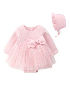 "Aurora Royal ""Pinky"" Bodysuit & Bonnet Set"