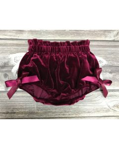 "Aurora Royal ""Sugary"" Baby Lace Back Velour Bloomers"