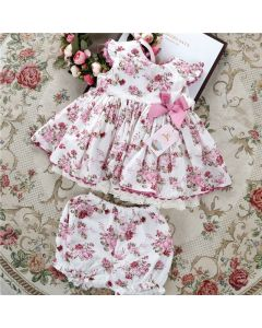 "Aurora Royal ""Romina"" Spanish Floral 2Piece Set"