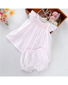 "Aurora Royal ""Angelina"" Pale Pink Hand-Smocked PJ Set"